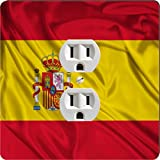 Rikki Knight 1686 Outlet Spain Flag Design Outlet Plate