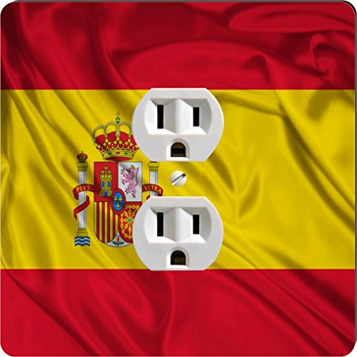 Rikki Knight 1686 Outlet Spain Flag Design Outlet Plate by Rikki Knight