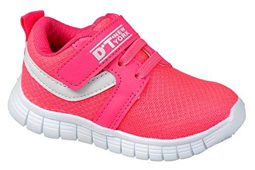 gibra - Zapatillas para deportes de interior de textil/sintético para niña Rosa