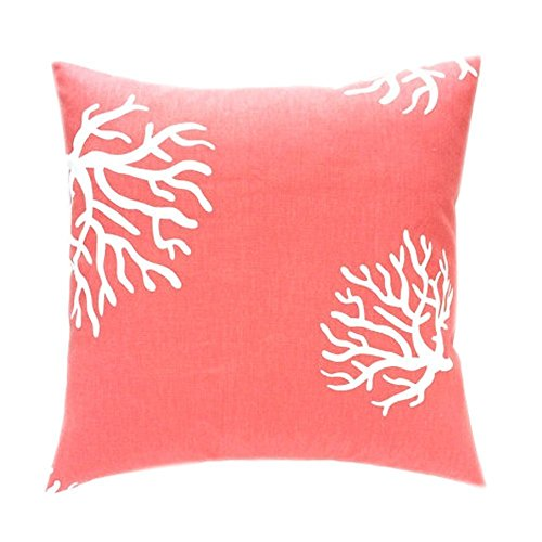 CoolDream Beach Coral Zippered Polyester Pillow Cases Cover