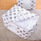 LtrottedJ Foldable Storage Bag, Clothes Blanket Quilt Closet Sweater Organizer Box Pouches (C)