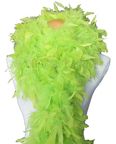 (Cynthia's Feathers 80g Chandelle Feather Boas over 30 Color & Patterns (Lime)
