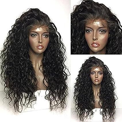 Maycaur – Peluca de pelo sintético rizado, densidad 180, ...