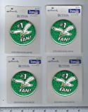 "Set of 4 Vintage 1990s Hallmark Philadelphia Eagles #1 Fan 2 1/4"" Button/Pin Dated 1995"