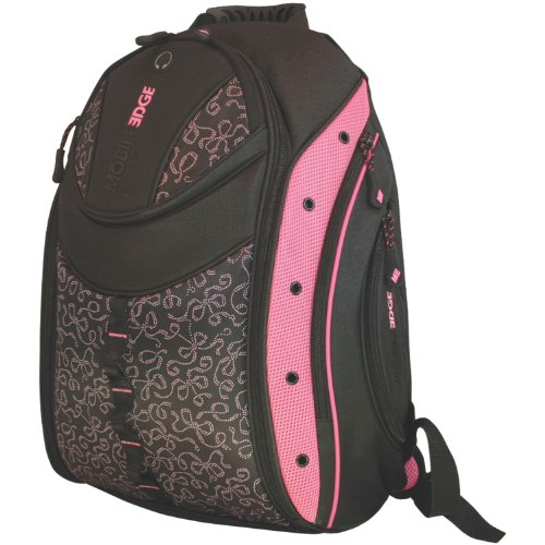 - Mobile Edge Black w/Pink Ribbons Women's Express Laptop Backpack 16 Inch PC, 17 Inch Mac - Students MEBPEX1