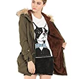 Greenis Women Jackt Coat Fur Hooded Thick Padded Long