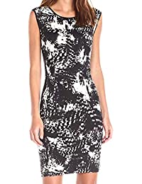 Women's Sleeveless Printed Sheath Dress