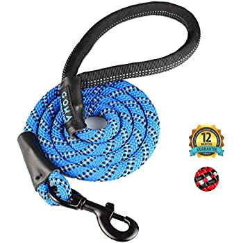 GOMA Industries Heavy Duty Dog Leash - Reflective Lead - 100% Nylon Indestructible leashes for Training- leashes for Medium, Large and XL pups - Mountain ...