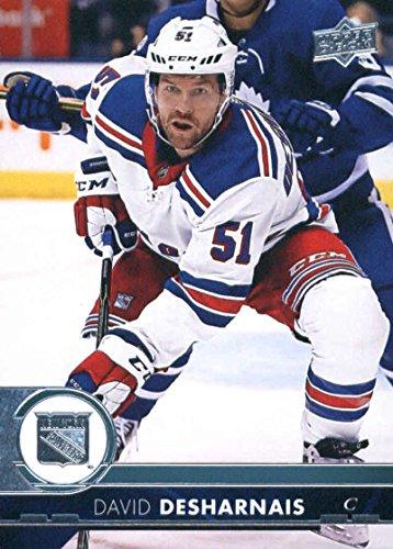 2017-18 Upper Deck Series 2 #377 David Desharnais New York Rangers Hockey Card