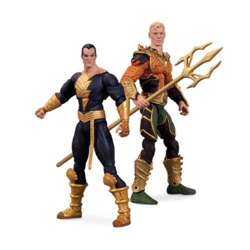 DC Collectibles Injustice Aquaman vs. Black Adam Action Figure, (Injustice Gods Among Us Batman Costumes)