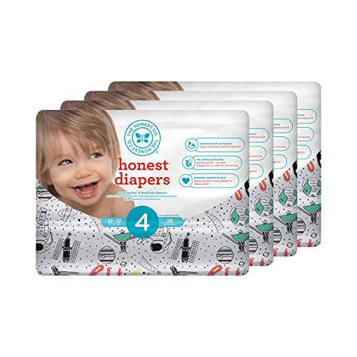 Honest Baby Diapers, Space Travel, Size 4, 116 Count