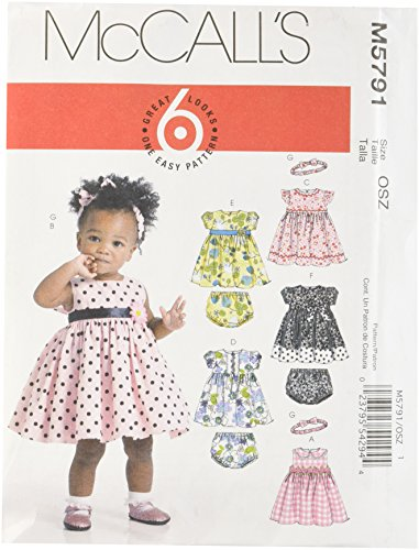 Mccall Pattern McCall's Patterns M5791 Infants' Lined Dre...