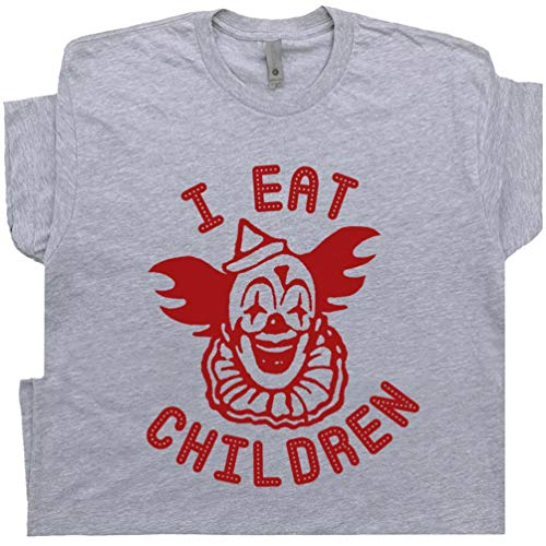 Creepy Clown T Shirt Pennywise The Vintage Circus Poster Tee 70s 80s It Horror Movie Offensive Saying