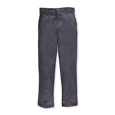 French Toast Big Boys' Twill Straight Fit Chino Pants - Gray, 16