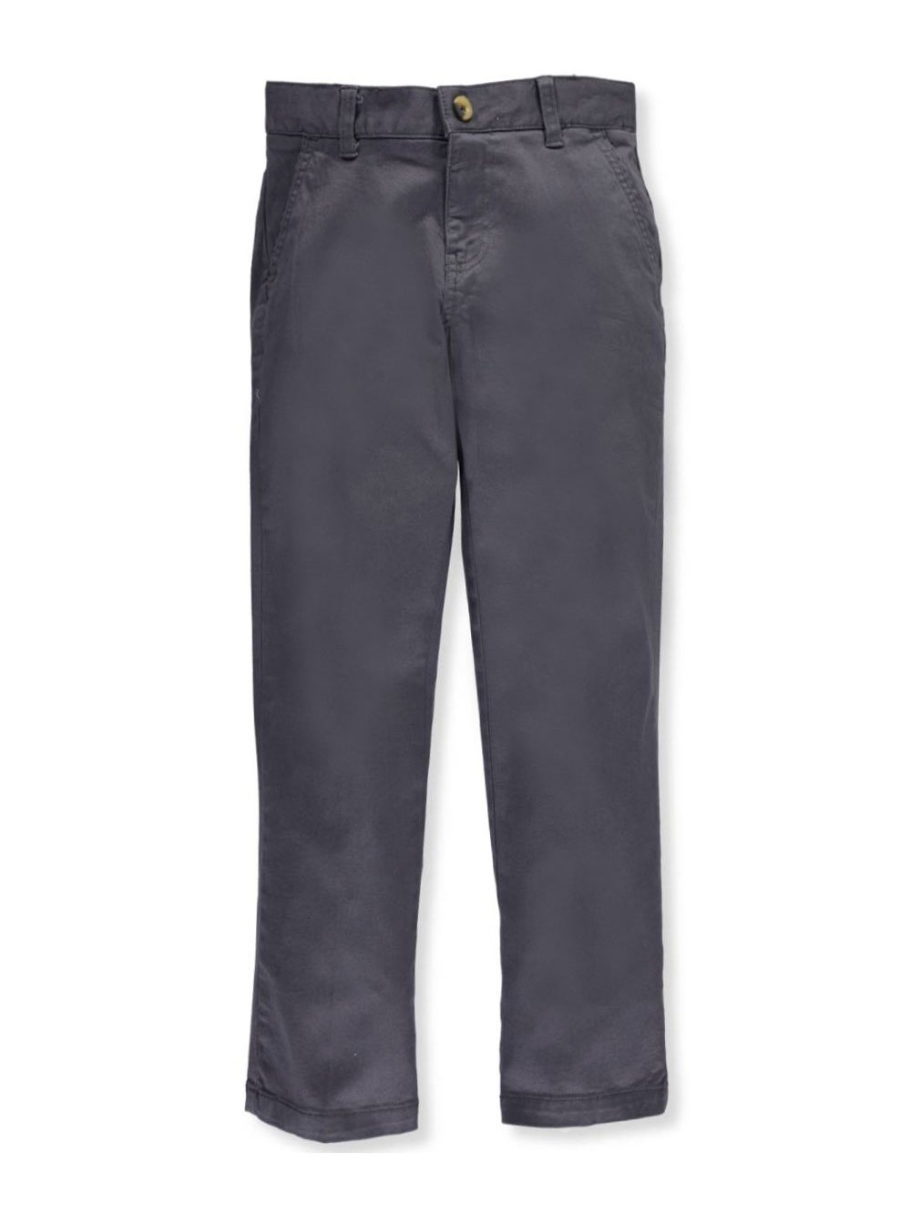 French Toast Big Boys' Twill Straight Fit Chino Pants - Gray, 14