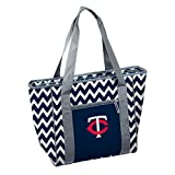 : Logo Brands MLB Minnesota Twins Chevron 30 Can Cooler Tote