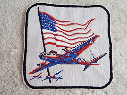American BOMBER Airplane Flag Embroidered Iron-on Patch