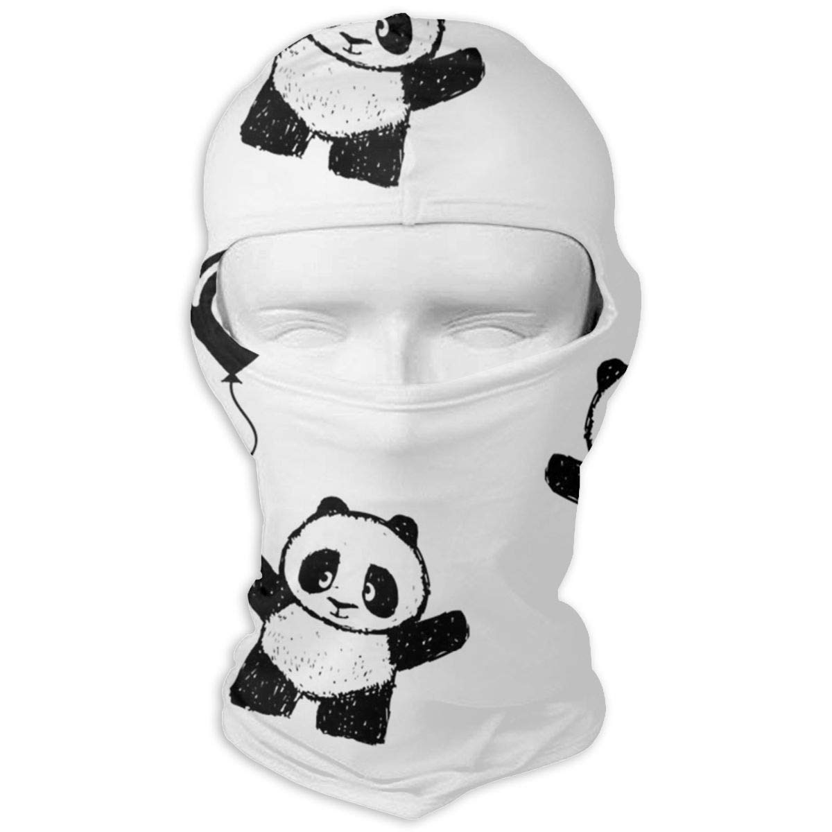 Ski Mask Panda Holding A Balloon Sun UV Protection Dust Protection Wind-Resistant Face Mask for Running Cycling Fishing Multicolor2 Ejdkdo