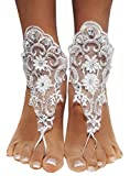 Bienvenu Wedding Barefoot Sandals,Lace Anklets Wedding,Prom Party Bangle,Style_2