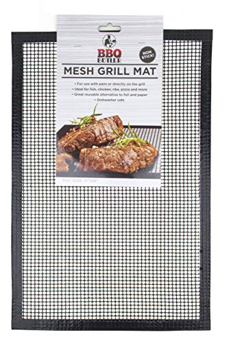 (BBQ Butler Grill Mat - Mesh Non-Stick Grill Mat - Perfect For Smokers -Traeger, Green Egg, Kamodo - One)