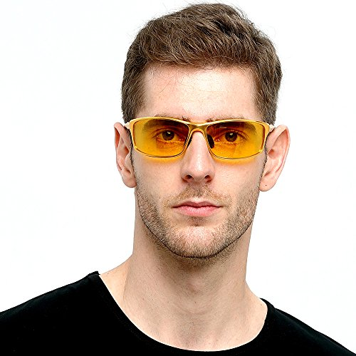 HD Mens Night Vision Glasses For Driving Polarized Anti-glare Night Sight Driving Glasses Yellow1