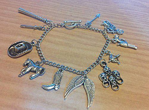 8f2ca767d Amazon.com: The Walking Dead Fandom Charm Bracelet -2017 version ...