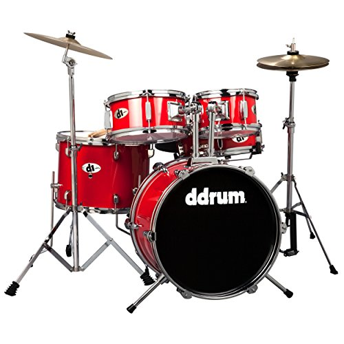 ddrum D1 Junior Complete Drum Set with Cymbals, Candy (Ddrum Red Drum)