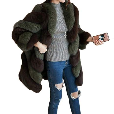 Abrigo de piel, Inciple Ropa de piel artificial para mujer Outwear Tipo Midi Pieza Bloqueo