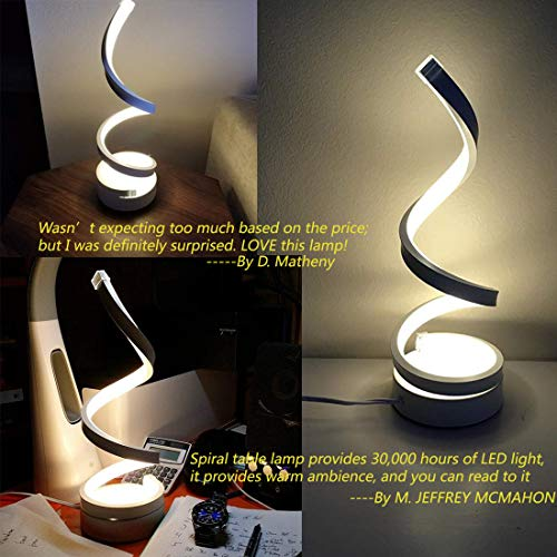Amazon.com: Lámpara LED de mesa en espiral para mesa ...