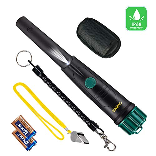 New OMMO Pinpointer Metal Detector, IP68 Waterproof Detector Pinpointe 360°Search Up to 12 Feet, Ha...
