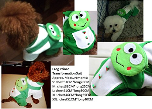 REIENE Exclusive! Dog/Cat Costume Green Frog Prince Transformation Suit! Buy Any 2 Items and GET FREE REIENE Exclusive GIFT Limited Time Offer!