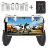 Foldable Mobile Game Controller Sensitive Shoot and Aim Keys L1R1 Gaming Triggers for PUBG/Fortnite / Knives Out/Rules of Survival Upgraded Version …