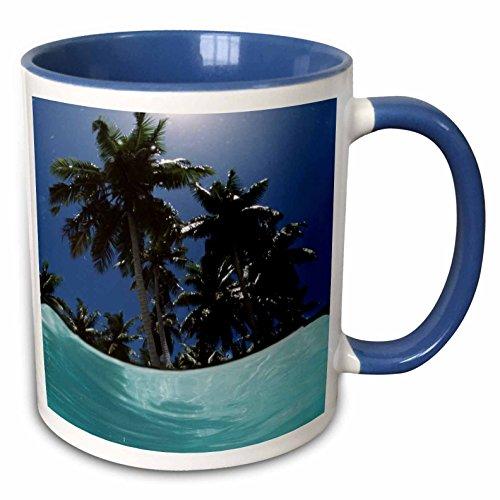 3dRose Danita Delimont - resort - Palau, View of Islands tree, World Heritage Site - 15oz Two-Tone Blue Mug (mug_228591_11)