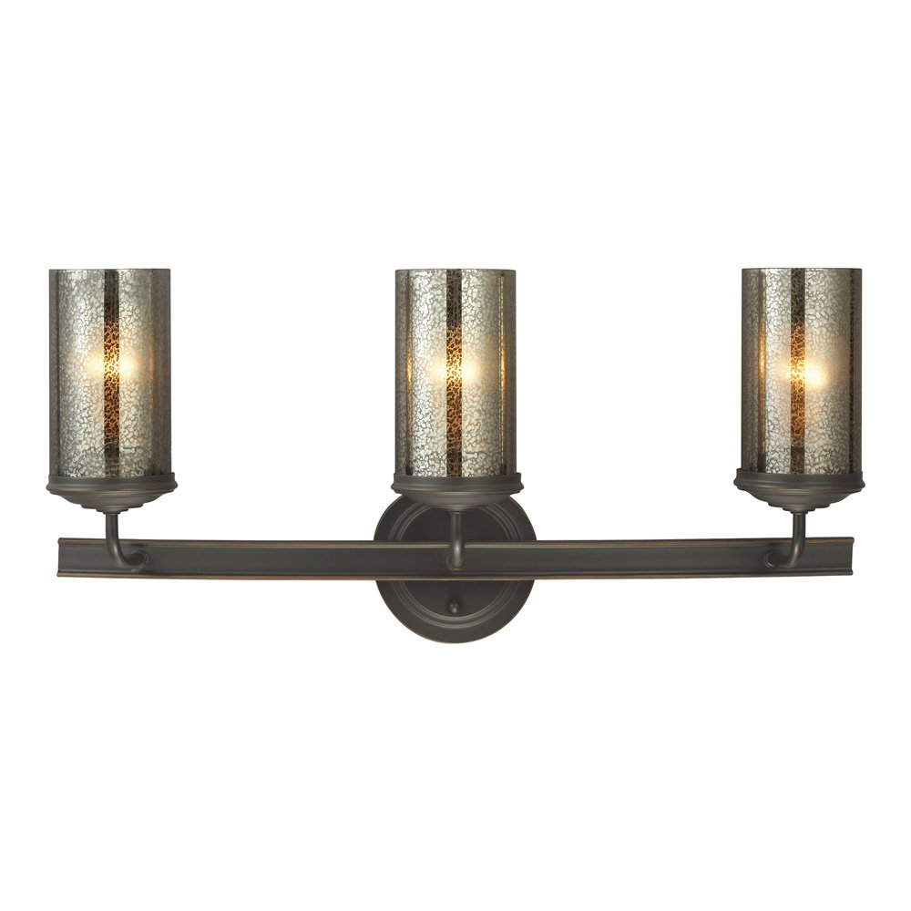 Sea Gull Lighting 4410403-715 Sfera Three-Light Bath or Wall Light Fixture with Mercury Glass, Autumn Bronze Finish