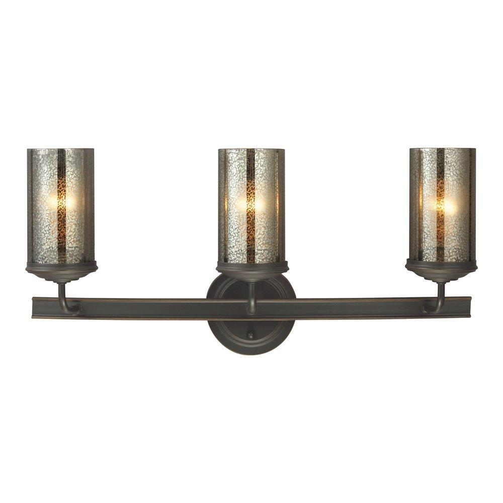 Quoizel TT8743BN Tritan Faucets Style Bath Vanity Wall Lighting, 3-Light, 300 Watts, Brushed Nickel 9 H x 22 W