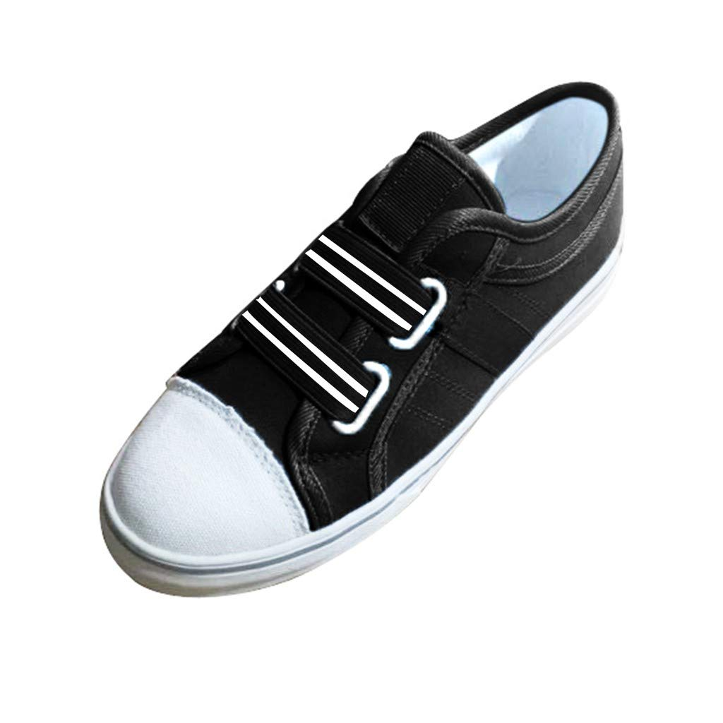 TIFENNY Student Canvas Shoes Women's Summer Round Toe Casual Shoes Flat Outdoor Elastic Band Buckle Sneakers Shoe Black by TIFENNY_Shoes