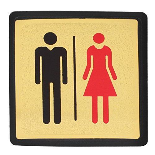 Bagno WC WC Uomo Donna Sesso Indicare Guida Sign Sticker Decal