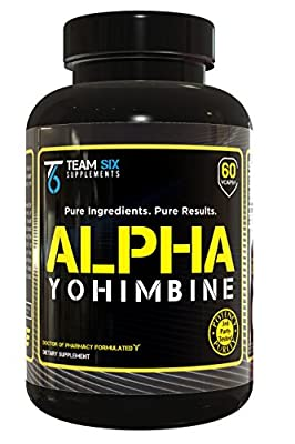 ALPHA YOHIMBE (YOHIMBINE) - Clinically Proven Fat Burner & Weight Loss Supplement, 3rd Party Tested For Purity & Potency, 60 Veggie Capsules