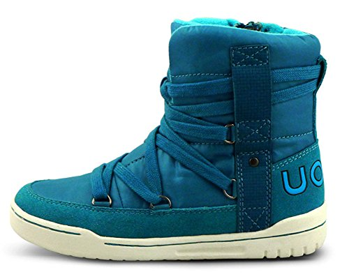 iDuoDuo Kids Casual Short Shaft Boots Side Zipper Waterproof Snow Boots Blue 13 M US Little Kid by iDuoDuo (Image #1)