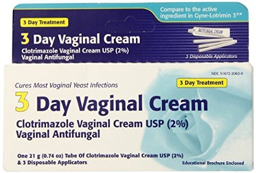 - Clotrimazole 3 -Day Vaginal Cream - 0.74 Oz (Pack of 2)