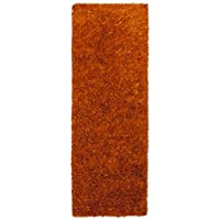 Orange Shimmer Shag (2.5x8) Runner