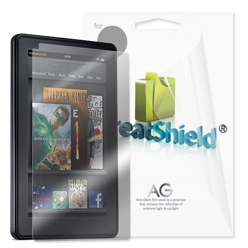 GreatShield Ultra Anti-Glare (Matte) Clear Screen Protector Film for Amazon Kindle Fire, 3 Pack (does not fit