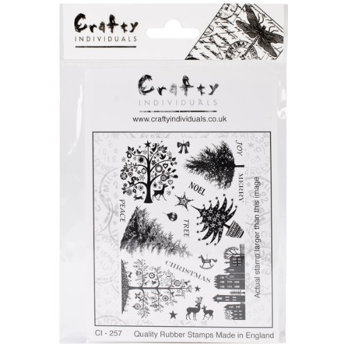 Crafty Individuals CI-257 Unmounted Rubber Stamp, Mini Christmas Trees