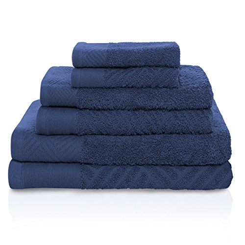 Superior 100% Egyptian Cotton 6-Piece Towel Set, Basket Weav