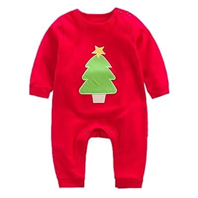 Bébé Noël Barboteuse Pyjamas Ensembles Unisexe Filles Garçons Pyjamas Costumes Tenues Infantile 0-12 mois Deyou