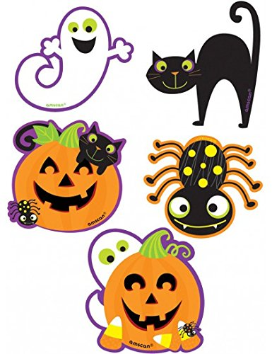 Pack Of 10 Halloween Themed Mini (Ghost Cutouts)
