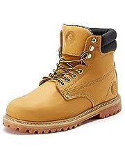ROCKROOSTER Underwood Men's Work Boots Comfort Memo Boots, Nubuck Leather, Slip-Resistant Rubber Sole Construction Boots, AP9951-9952