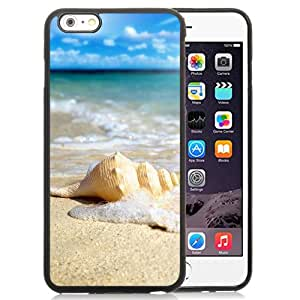 White Seashell In Waves Durable High Quality iPhone 6 Plus 5.5 Inch TPU Case