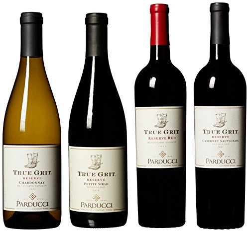 The Complete True Grit Red and White Wine Mixed Pack, 4 x 750 mL by Parducci Wine Cellars