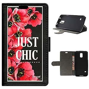 BeCool - Funda carcasa tipo [ Libro ] Samsung Galaxy S5 [ Función Soporte ] Just Chic